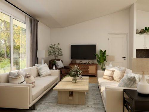Modern minimalis dengan warna monokrom
