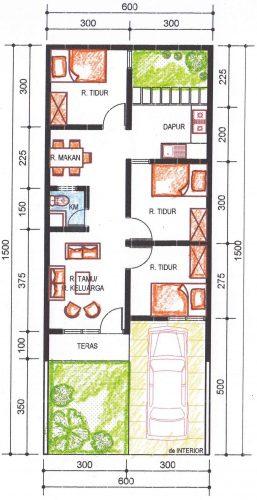 Pengembangan rumah tipe 36 alternatif 3