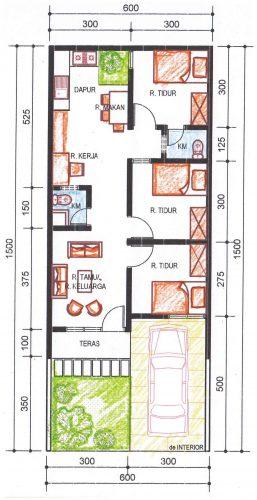 Pengembangan rumah type 36 alternatif 5