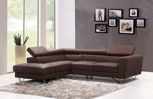 Sofa kulit letter L